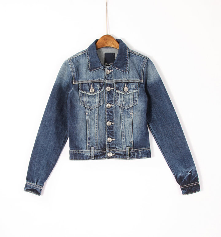 Short-Sleeved Blue Denim Coat